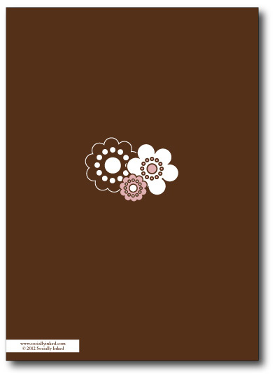 The Pink & Chocolate Flower Shower Invitation Back