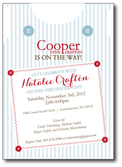 Button-Up Overalls Invitation Front